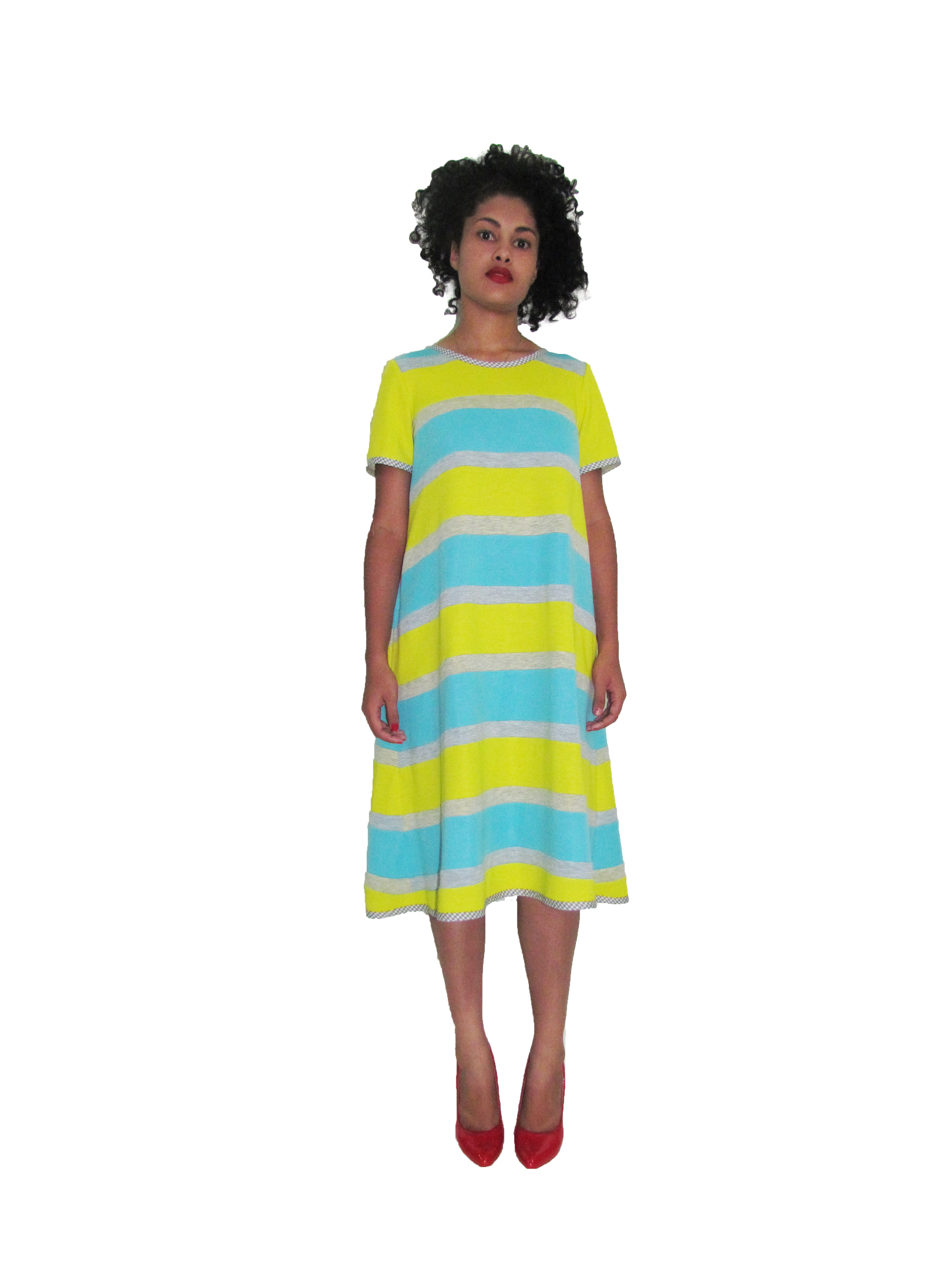 SP 1712 - A-Line Striped Dress