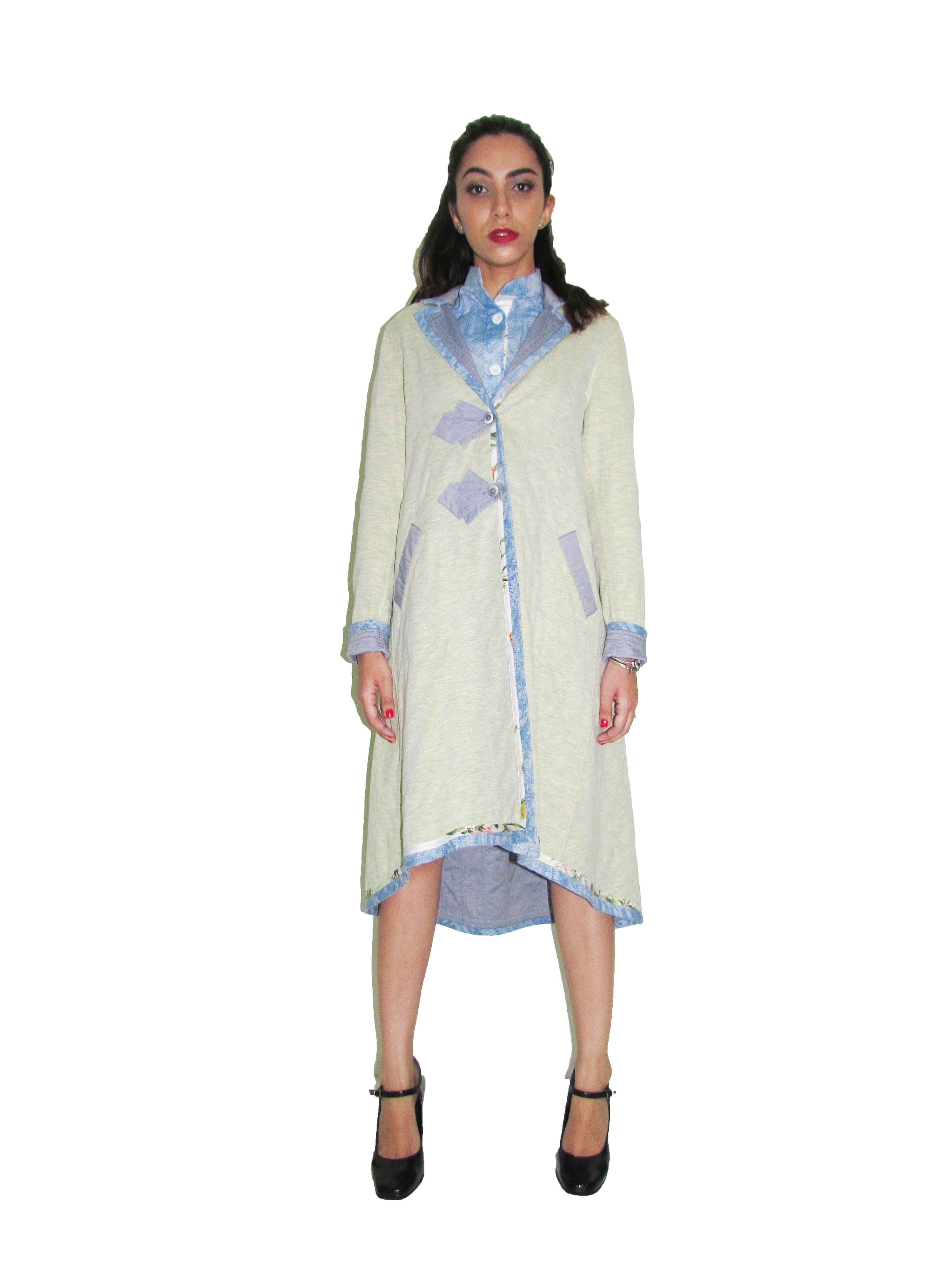 SP 1728 Hi-Low Hem Coat