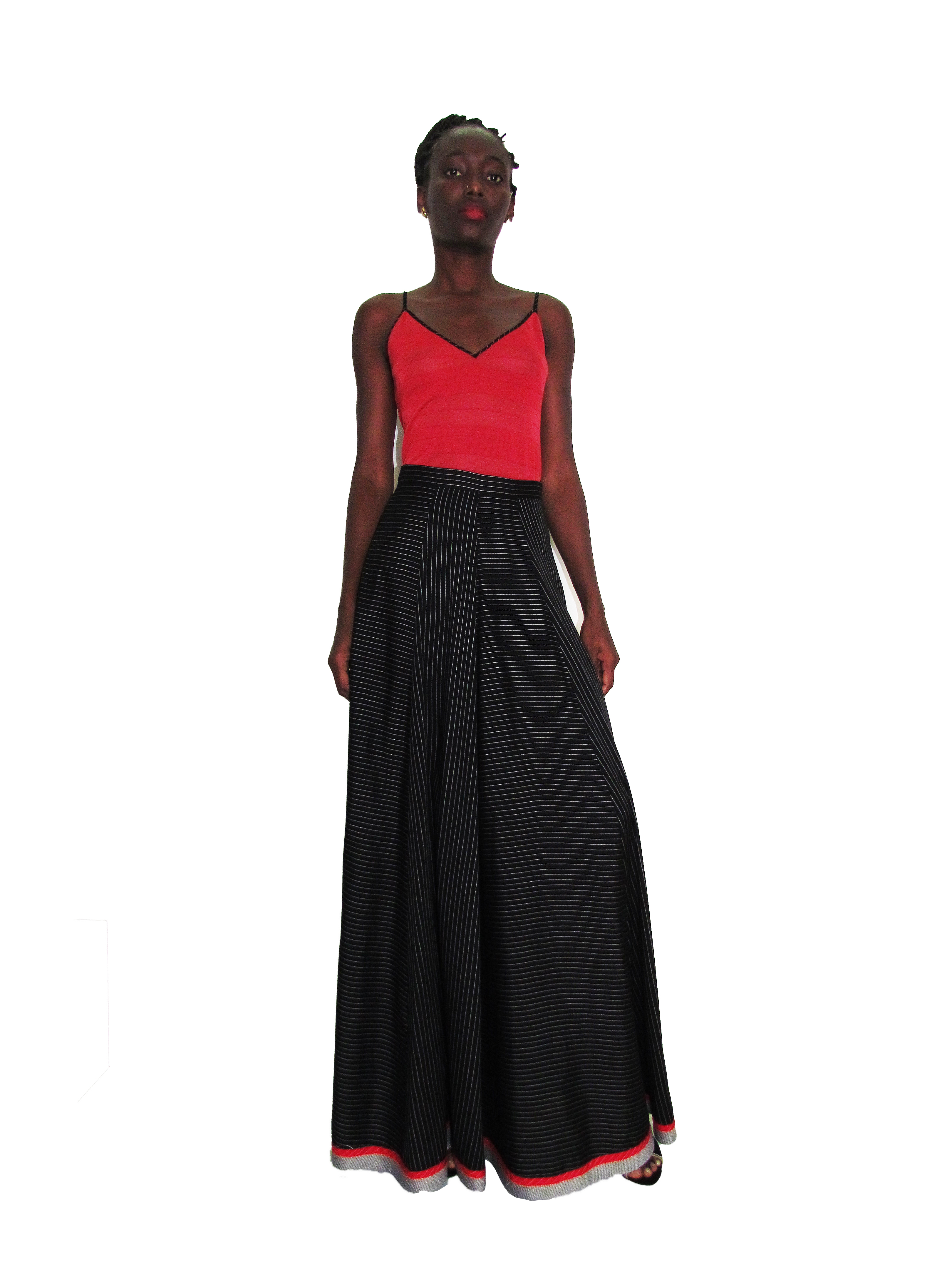 SP 1737 - Maxi Gored Skirt